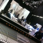 Setting up Stage and Sound System hire auckland at NZ Fashion Week