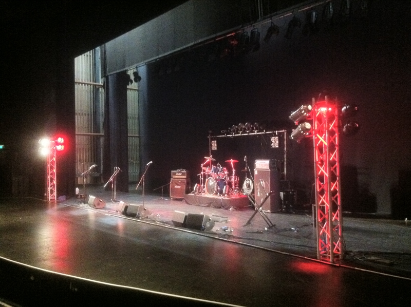 hire PA system and lighting for tour, audio equipment hire