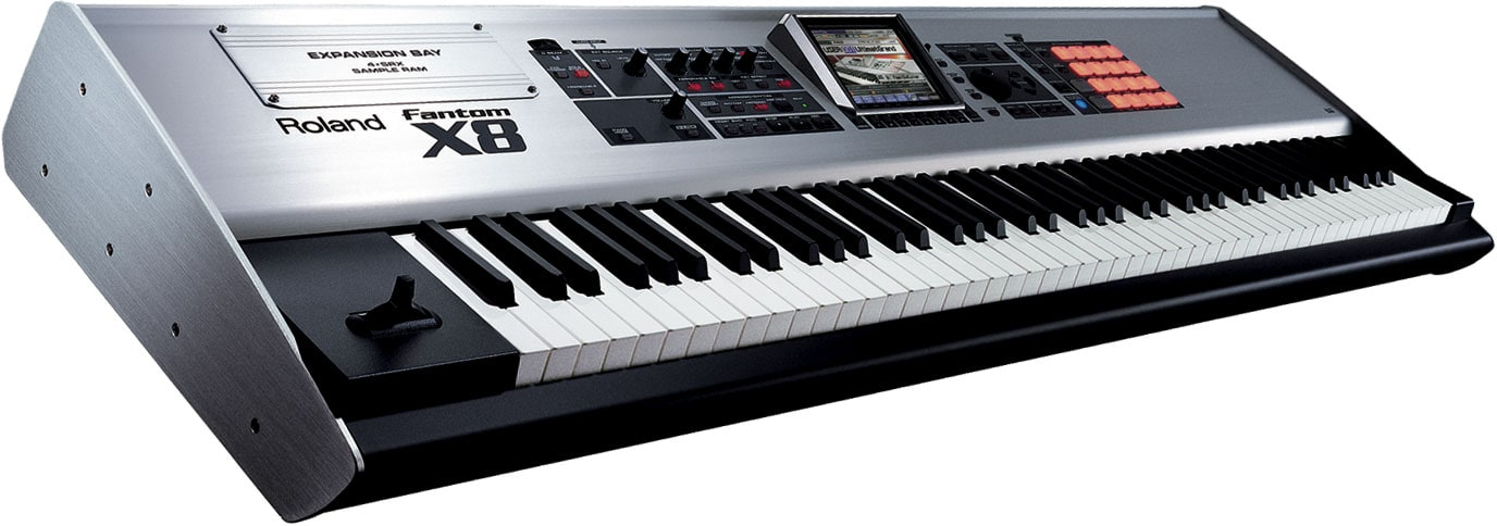 Hire keyboard, Roland Fantom X8 workstation, Roland keyboard hire