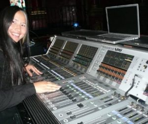 hire a foh mix engineer, tour engineer, Michelle Klaessens Rawstron